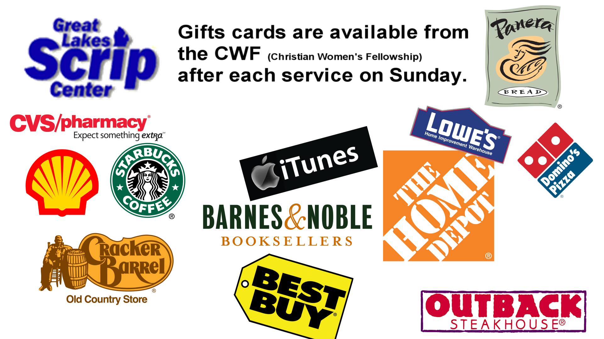 Scrips (Gift Cards)